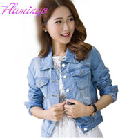 Femmes Denim Veste Manteau Vintage Jeans Manteaux Femmes Tops Casual Lapel Wide Waisted Bomber Vestes Log Sleeve Windbreaker Jaqueta