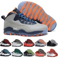 2017 barato Novo retro 10 mens Basquete Shoes Ice Blue Chicago ovo branco preto Retro X Sneakers sapatos esportivos botas de atletismo Tamanho 41-47