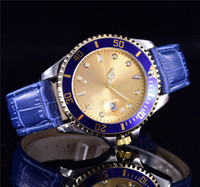 Wholesale Models Snaps - luxury Fashion new branded aaa quality adult snap watches mens model design Calendar gold dial automatic mechanical quartz Male steel clock