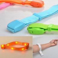 colorful sports bar promotions - Led Flashing Bracelet Light Up Bangle Wristband for Night Club Party Event Bar Disco Cheer promotion led remote sport fitness flashin