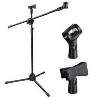 üçayak tabanı toptan satış-Yüksek Kaliteli Mikrofon Boom Standı Sağlam Ayarlanabilir Yükseklik Micr Kol Tripod Baz Sahne Stüdyo Tutucu Klip