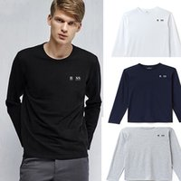 Wholesale Yard Long Print - polo bos men clothes big yards stitching long sleeve forcmen t shirt shirt Men's long-sleeve T-shirt personality youth sweatshirt printed