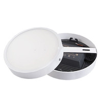 Wholesale High Lumen Led Recessed Lighting - Integrate Ultra Silm Recessed and Surface Round LED Panel Light 6W 12W 18W 24W High CRI High Lumen 85-265v