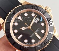 Wholesale Ceramic Rose Watch - Luxury Noob Factory V7 Edition Mens Automatic Eta 3135 Watch Men Rose Gold Calendar 116655 Sport Watches Dive Swiss Rubber Wristwatches