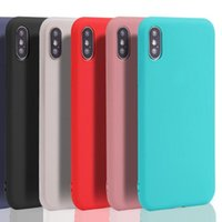 Para iphone 8 8plus Soft TPU Case Ultra fino Slim Candy Color Matte Jelly Shell capas de capa de pele para iphone 8 7 6 6s plus