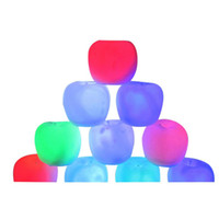 Wholesale Apple Shape Lamp - Wholesale- Apple Shaped Battery Powered LED Decorative Lamp Colorful Light Holiday Light Kids Gift Beside Night Light
