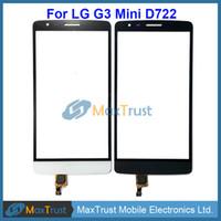 "Wholesale G3s Black - Top Quality 5.0"" For LG G3 Mini D722 G3S Touch Screen Digitizer Front Glass Panel Sensor Black White Gold Color"