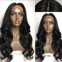 Wholesale Cheap Wigs Bangs - 2017 Hot Style 100% Glueless Synthetic Lace Front Wig With Bangs Hair Wig Heat Resistant Cheap Female Wig Perucas Wigs for Black Women