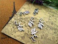 Wholesale Deer Head Charms - 125pcs deer head Charms Antiqued Silver Tone deer head charm pendants 26x11mm