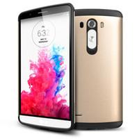 teléfonos móviles lg g3 al por mayor-Estuche rígido resistente a los golpes de plástico resistente a los golpes híbrido para LG G3 cubierta Mobile TPU + PC Phone Cases Shell Skin