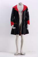 Wholesale Dante Cosplay - Devil May Cry Dante Daily Outdoor PU Leather Jacket Cosplay Costume