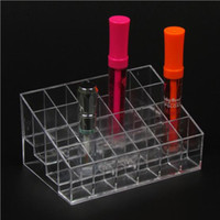 All'ingrosso 1 Pc 24 Cube Lipstick Holder Smalto per unghie, Lip Gloss Makeup Staffa cosmetici Display Stand bagagli puntelli di buona qualità