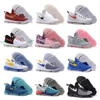 Wholesale Kd Boots - New Arrival Air Zoom KD 9 Mens Basketball Shoes KD9 Oreo Grey Wolf Kevin Durant 9s Men's Training Sports Sneakers Warriors Home US Size