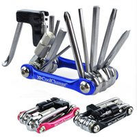 Wholesale Extractor Cycling - Mountain Bike Tools Bicycle 11in1 Multi-function Bike Bicycle Chain Rivet Extractor Cycling Repair Tools Kit 100% Brand New