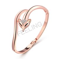 Venda quente nos EUA Fashion Fox Charming Beautiful Lady bracelete com diamante, elegante para mulheres, Best Friend Gift