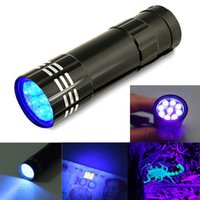 Wholesale mini led flashlight online - UV Ultra Violet LED Flashlight Mini Blacklight Keychain Tactical Torch Light Lamp Key ring Black
