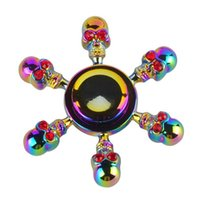 Cranio Hexagonale del metallo Spinner Metal Cranio Machined Metal Lega di zinco Spinner Fidget Spinners EDC Decompression Fidget Toys