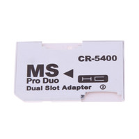 Wholesale Dual Sdhc - New Hot Sale Dual 2 Slot Micro For SD SDHC TF to Memory Stick MS Card Pro Duo Reader Adapter For PSP