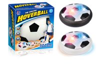Wholesale Disk Ball - Hover Ball LED Kids Air Power Soccer Football Children Toys LED Light Light Up Indoor Outdoor Disk Ball Retailpackagel