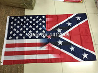 Wholesale Wholesale Confederate Flags - 90x150cm American Flag with Confederate Rebel Civil War Flag new style hot sell 3x5 ft