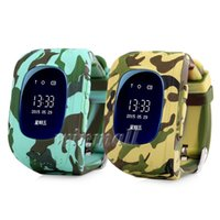Wholesale quad band smart watch online – Camouflage Q50 Kids GPS Tracker Smart Watch Phone SIM Quad Band GSM Safe SOS Call Smartwatch For Android IOS