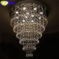 Wholesale FUMAT Modern Round Crystal LED Chandelier Restaurant Living Room Light Crystal Lamp Bedroom Creative Office Hotel Lighting Fixtures