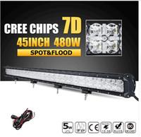 ford 4x4 lastwagen großhandel-480W 45inch 7D CREE Chips LED Offroad Lichtleiste Combo Führte Arbeitslichtleiste 12 v 24 v für Jeep Ford Pickup Truck SUV 4x4 4WD