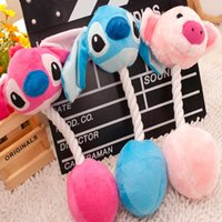 3 Couleurs Pet Plush Cotton Lollipop Jouets Cat Dog Dents Broyage Jouets Stitch Farcies Caroon Sound Toys pour Puppy