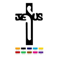Wholesale Cross Bumpers - Handicrafts Vinyl Decals Car Stickers Glass Stickers Scratches Stickers Wall Die Cut Bumper Accessories Jdm Jesus Holy Cross