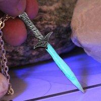 Wholesale Glow Dark Crystals - Bilbo Baggins SWORD necklace GLOW in the DARK Luminous The Hobbit The Sting sword Pendants & Necklaces