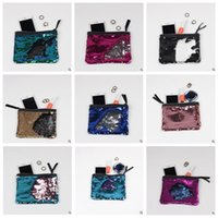 Wholesale Clutch Paillette - 9 Colors 19*15cm Hot Sale Sequin Clutch Bag Mermaid Sequin Purse Mermaid Makeup Bags Cosmetic Bag Glitter Sequins Coin Bags CCA6642 300pcs