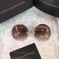 Wholesale C2 Sunglasses - 2017 Victoria Beckham ROUND BROWN GOLD VBS57 C2 Sunglasses Designer sunglasses unisex BRAND NEW WITH CASE