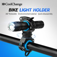 CoolChange Bike Cycling 360 Rotating Light Double Holder LED Lampe de poche avant Pompe à lampe Support de guidon Accessoires de vélo