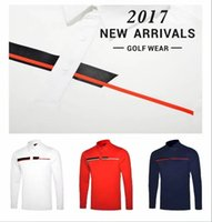 Wholesale T Shirts Smooth - 2017 Ti golf T-shirt dry fit men's Autumn smooth touching golf shirts 3 colors OEM available