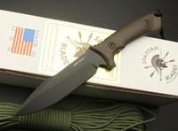 sabit bıçaklı düz bıçak toptan satış-Üst Kalite Spartan Survival Düz Bıçak 7Cr17 58HRC Siyah Bıçak Açık Kamp Yürüyüş Avcılık Perakende kutusu Bıçak Bıçak Bıçaklar Sabit