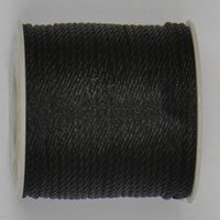 Braid Nylon Cords black nylon twine - 3mm Black Twisted Twine Thread Nylon Cord Jewelry Accessories Macrame Rope Shamballa Bracelet Necklace String Cords m roll