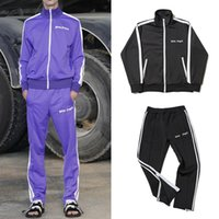 Wholesale pocket angels - New Tracksuit Palm Angels Men Women Old School Track Suit Fashion Side Stripes Sportswear Couples Hip Hop Club Suit PXG1025