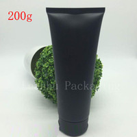 Wholesale Empty Squeeze Bottles - 150G 200G Empty Black Soft Refillable Plastic Lotion Tubes Squeeze Cosmetic Packaging, Cream Tube Screw Lids Bottle Container