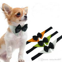 Wholesale Extra Large Ornaments - Pet Dog Cat Tie Bow Collar Necklace Scarf Triangle Towel Cotton Bowknot Adjustable Wedding Party Collars Scarf Cute Napkin Dog Pet Scarf
