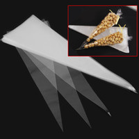 Wholesale Cellophane Packaging - Wholesale-50Pcs Cone Shaped Party Wedding Gifts Packaging Bag Chocolate Sweet Candy Clear Cellophane Cello Bag Display Decoration