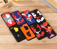Wholesale Tpu Sports Shoes - Basketball Sports Shoe Sole Soft Back Case IPhone 7 Case Hot Sale Phone Case Cover For Iphone 6 6s Samsung S7 S7edge