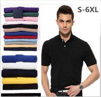 Wholesale Mens Embroidery Designs - Brand Camisa embroidery Polo Shirt Men Design Cotton Polos Mens Short Sleeve Polo Shirts Sportsjerseysgolftennis Plus Size XXXL Blusas Topss
