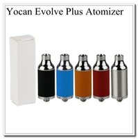 Wholesale E Cigare - Single Top Yocan Evolve Plus Atomizers Replacement Wax Vaporizer herbal Vapor dry herb Fit Evolve Battery Quartz Dual Coils E cigare