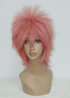 Wholesale Natsu Wig - MCOSER Hot Fairy Tail Natsu Dragneel Fashion 32cm Short Pink Japanese Anime Wig