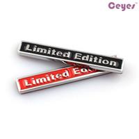 asientos de metal al por mayor-Car Styling 3D Metal Logo Stickers Limited Edition Badge para bmw audi opel saab asiento jeep lada nissan toyota Emblemas del coche pegatinas