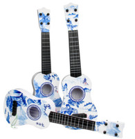 Wholesale sky blue guitar - Blue and white porcelain guitar.Concise and beautiful , Large wholesale.