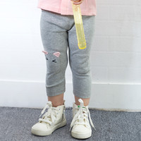 Wholesale Girls Matching Tight - Yingzifang 2017 Autumn Girls Baby Elastic Waist Solid Pencil Pants All-matched Leggings Soft Cartoon Patchwork Spring Autumn Kids Leggings