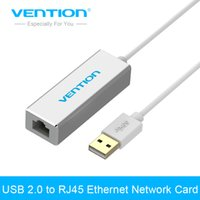 Wholesale android tv rj45 - Wholesale- Vention USB 2.0 to RJ45 Lan Network Ethernet Adapter Card For Mac OS Android Tablet pc Laptop Smart TV Win 7 8 XP at 10 100Mbps