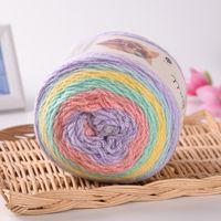 Wholesale Rainbow Cake Colors - 10PCS Top Quality LANAS STOP Cake Ball Yarn Mix Color Dyed Yarn DIY Knitting Woven Thread Rainbow Colors Yarns Creative Hand Crocheted Craft