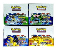 Wholesale Games Break - Poke Trading Cards Games Break Through English Edition 8 Styles Anime Pocket Monsters Cards Toys 324pcs lot